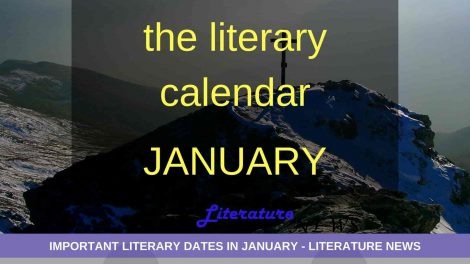 Literary dates in January month