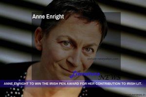Anne Enright Irish PEN award