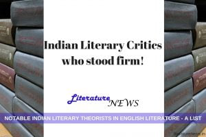 Indian Literary critics theorists English literature