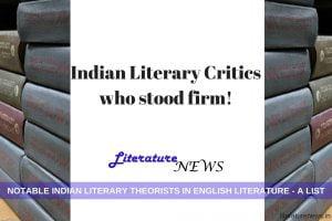 Indian Literary critics theorists English literature