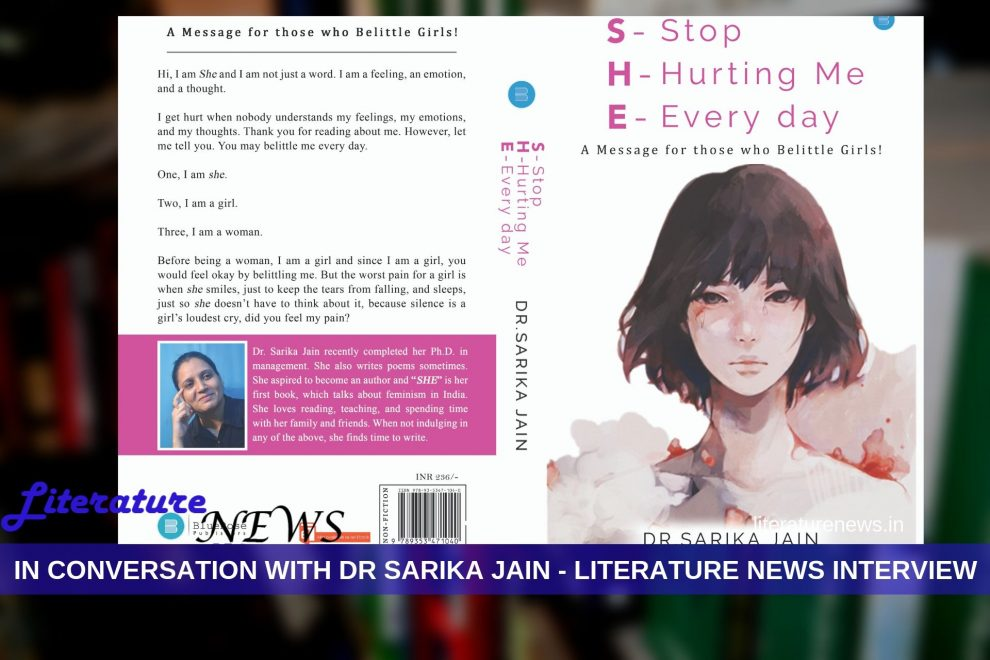 Interview with Dr Sarika Jain - author of SHE - Literature News